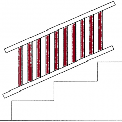 "Afco Series 200, Aluminum Deck Board [36"" Baluster Kit] for Fixed Angle Stair Rail"