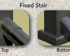 Afco Series 125 Fixed Angle Stair Rail Bracket Set