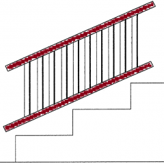 Afco Series 100, Afco Aluminum [Rails Only] for Fixed Angle Stair Rail