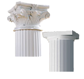 Afco Caps & Bases for Round and Fluted Square Aluminum Columns