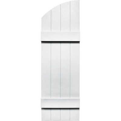 "Standard 14"" 4-Board Joined w/ Arched Top, Shutter-Lok fasteners & color-matched screws (Pair)"