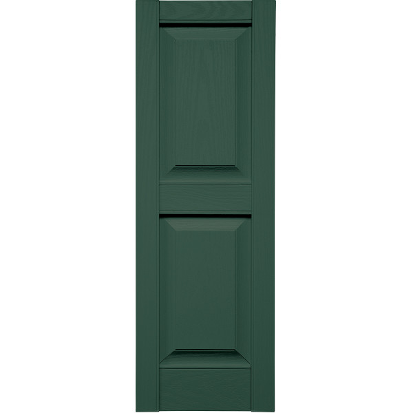 Specialty Raised Two Panel Shutters w/ Shutter-Lok fasteners & color-matched screws (Pair)