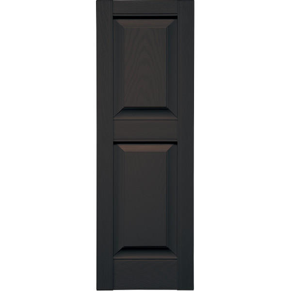Specialty Raised Two Unequal Panel Shutters w/ Shutter-Lok fasteners & color-matched screws (Pair)