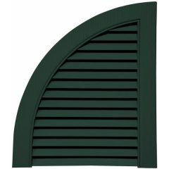 14.75 Inch x 17 Inch Quarter Round Arch Open Louver (Per Pair)