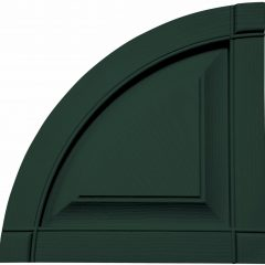 12 Inch x 12 Inch Quarter Round Arch Top Raised Panel (Per Pair)