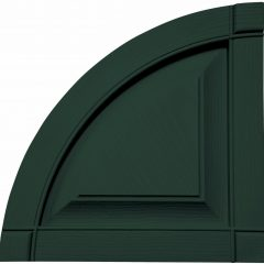 14.75 Inch x 14.75 Inch Quarter Round Arch Top Raised Panel (Per Pair)