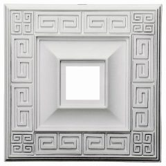 "CM18ER 18""W x 18""H x 3-1/2""ID x 1-1/8""P Eris Ceiling Medallion (Fits Canopies up to 5"")"