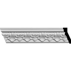 "MLD02X01X02AS 2-5/8""H x 1-1/4""P x 2-7/8""F x 94-1/2""L Ashur Leaf Crown Molding"