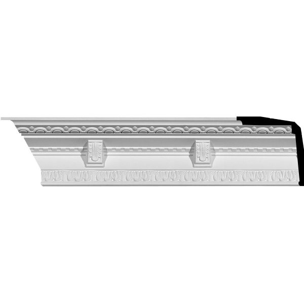 "AA108 3-3/4""H x 3-1/2""P x 5-1/8""F x 94-1/2""L Granada Traditional Crown Molding"