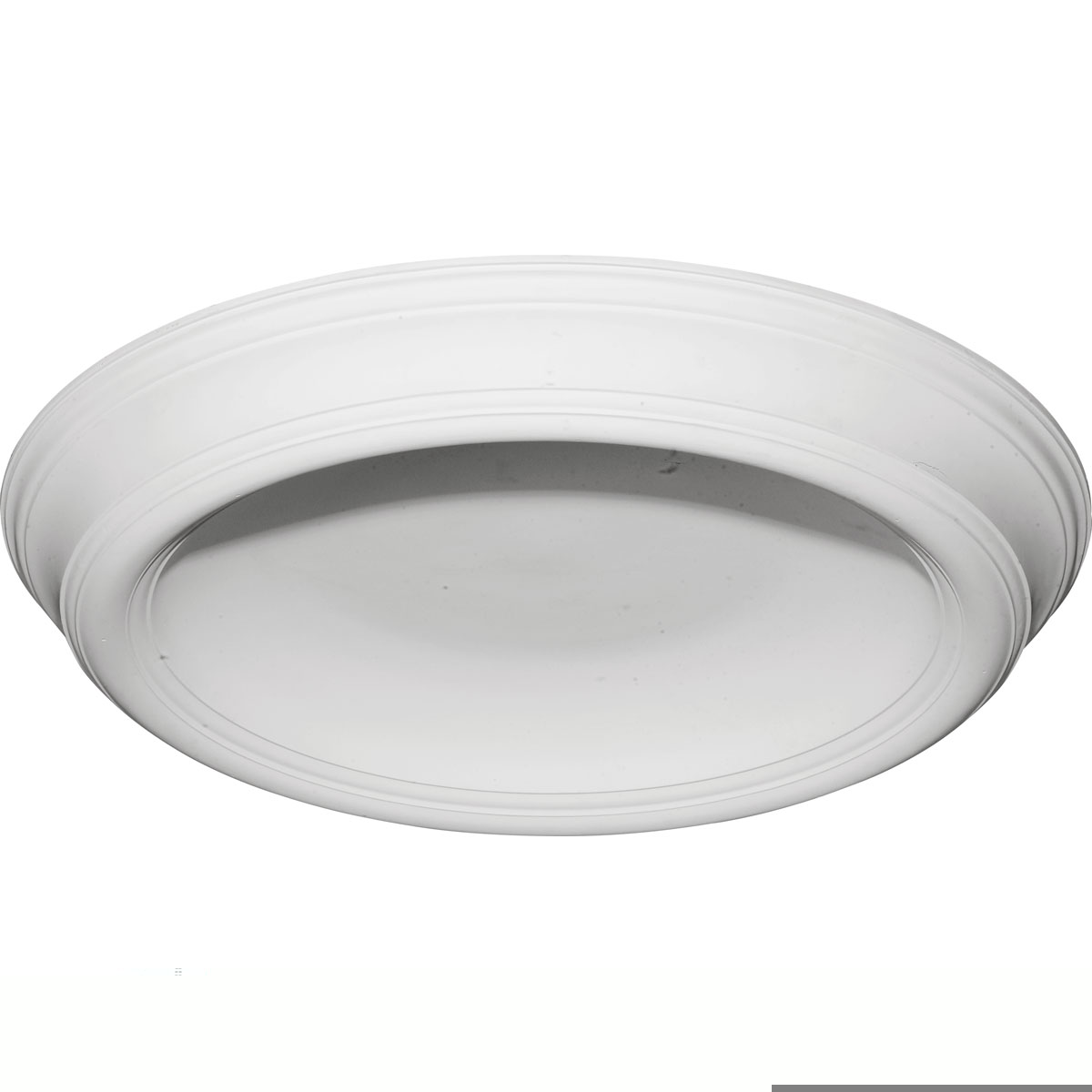 """DOME37TR 37-3/8""""OD x 26-1/2""""ID x 4""""D Traditional Smooth Surface Mount Ceiling Dome"""