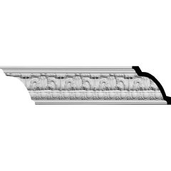 """MLD04X03X06CO 4-1/2""""H x 3-7/8""""P x 6""""F x 94-5/8""""L Colton Egg & Dart Acanthus Crown Molding"""