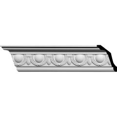 "AA035 5-1/4""H x 4""P x 6-5/8""F x 94-1/2""L Federal Egg and Dart Crown Molding"