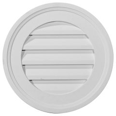 "GVRO16F 16""W x 16""H Round Gable Vent Louver,Functional"