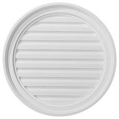 "GVRO22F 22""W x 22""H Round Gable Vent Louver,Functional"