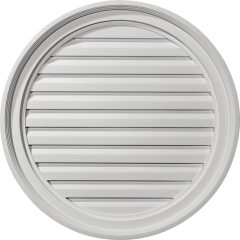 "GVRO24F 24""W x 24""H Round Gable Vent Louver,Functional"