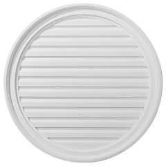 "GVRO28F 28""W x 28""H Round Gable Vent Louver,Functional"