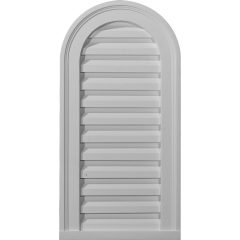 "GVCA14X32D 14""W x 32""H Cathedral Gable Vent Louver, Decorative"