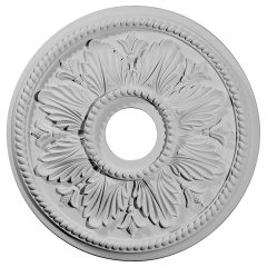 "CM18ED1 18-1/8""OD x 3-1/2""ID x 2-3/4""P Edinburgh Ceiling Medallion (Fits Canopies up to 5-1/8"")"