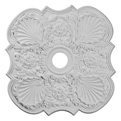 "CM29FW 29""OD x 3-5/8""ID x 1-3/8""P Flower Ceiling Medallion (Fits Canopies up to 6-1/4"")"