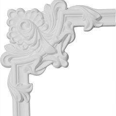 "PML08X08ST 8-1/2""W x 8-5/8""H Stockport Leaf Panel Molding Corner"