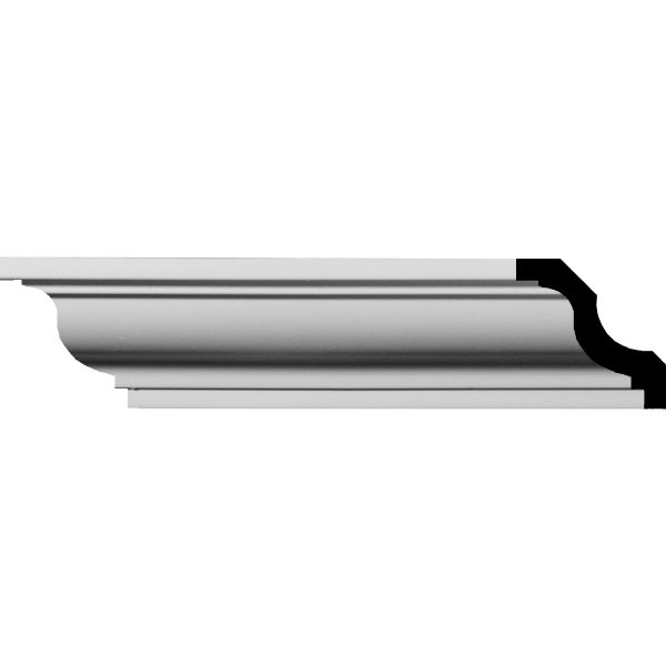 """MLD01X01X02JA 1-5/8""""H x 1-5/8""""P x 2-1/4""""F x 96""""L Jackson Traditional Smooth Crown Molding"""