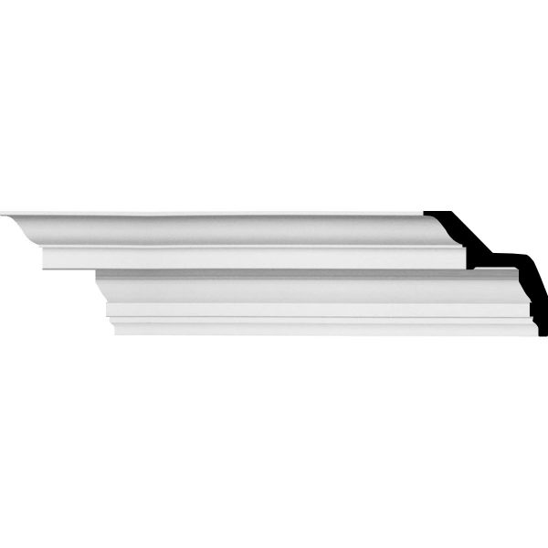 "AB169 5""H x 5""P x 7""F x 94-1/2""L Felix Traditional Smooth Crown Molding"