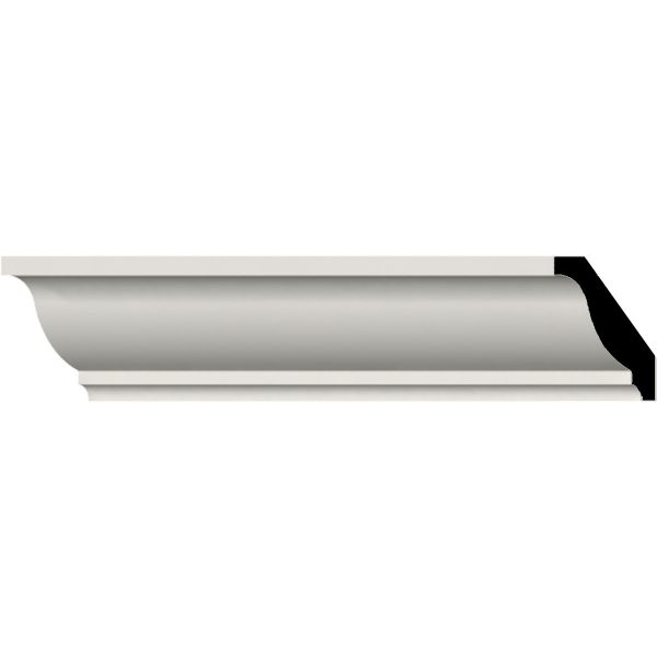 "MLD01X01X02OD 1-5/8""H x 1-5/8""P x 2-1/4""F x 94-1/2""L Odessa Traditional Smooth Crown Molding"