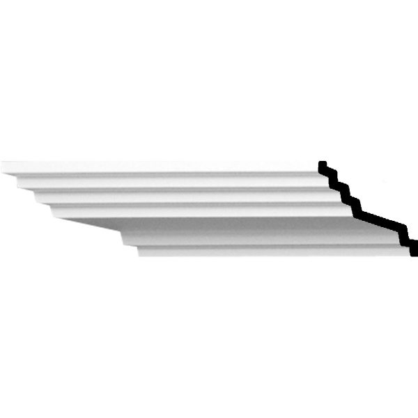 """AB1901-3/4""""H x 4""""P x 4-1/2""""F x 94-1/2""""L Adonis Traditional Smooth Crown Molding"""