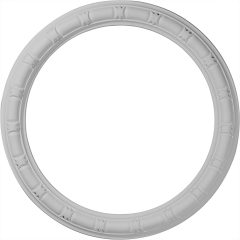 "CR21EG 21-3/8""OD x 16-7/8""ID x 2-1/4""W x 1""P Egg & Dart Ceiling Ring"