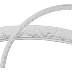 """CR49SU 49-1/4""""OD x 45-1/4""""ID x 2""""W x 7/8""""P Sussex Floral Ceiling Ring (1/4 of complete circle)"""