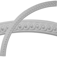 """CR57SE 57-1/4""""OD x 53-3/4""""ID x 1-3/4""""W x 1-1/4""""P Seville Bead & Barrel Ceiling Ring (1/4 of complete circle)"""