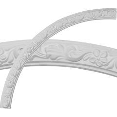 """CR39SU 40""""OD x 36""""ID x 2""""W x 7/8""""P Sussex Floral Ceiling Ring (1/4 of complete circle)"""