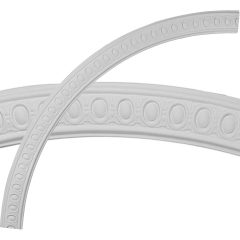 """CR64CA 64-3/4""""OD x 58-1/4""""ID x 3-1/4""""W x 3/4""""P Caputo Egg & Dart Ceiling Ring (1/4 of complete circle)"""