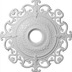 """CM38OL 38-3/8""""OD x 6-1/4""""ID Orleans Ceiling Medallion (Fits Canopies up to 8-1/4"""")"""