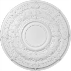 """CM33DA 33-7/8""""OD Dauphine Ceiling Medallion (Fits Canopies up to 9-1/2"""")"""