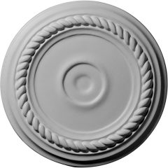 """CM07AL 7-7/8""""OD x 1-1/8""""ID x 3/4""""P Small Alexandria Ceiling Medallion (Fits Canopies up to 1-7/8"""")"""