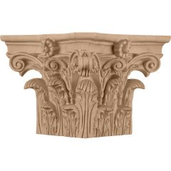 """Roman Corinthian Wood Capital for a 6"""" Square Non-Tapered Wood Column"""