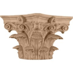 """Roman Corinthian Wood Capital for a 8"""" Round Tapered Wood Column"""