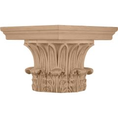 """Temple of Winds Wood Capital for a 10"""" Round Tapered Wood Column"""
