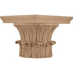 """Temple of Winds Wood Capital for a 12"""" Round Tapered Wood Column"""