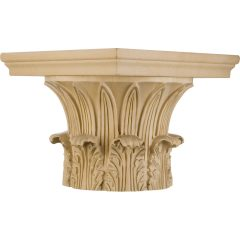 """Temple of Winds Wood Capital for a 14"""" Round Tapered Wood Column"""