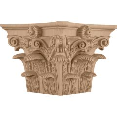 """Roman Corinthian Wood Capital for a 13-3/4"""" Square Non-Tapered Wood Column"""