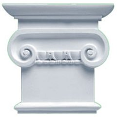 """CAP08X07X02CL 8-1/4""""W x 7-7/8""""H Classic Ionic Capital (Fits Pilasters up to 5-1/4""""W x 5/8""""D)"""