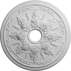 "CM23RO 23-5/8""OD x 4""ID x 1-1/2""P Rose and Ribbon Ceiling Medallion"