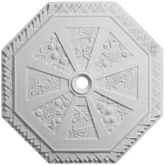 "CM30SP 29-1/8""OD Spring Octagonal Ceiling Medallion (Fits Canopies up to 3"")"
