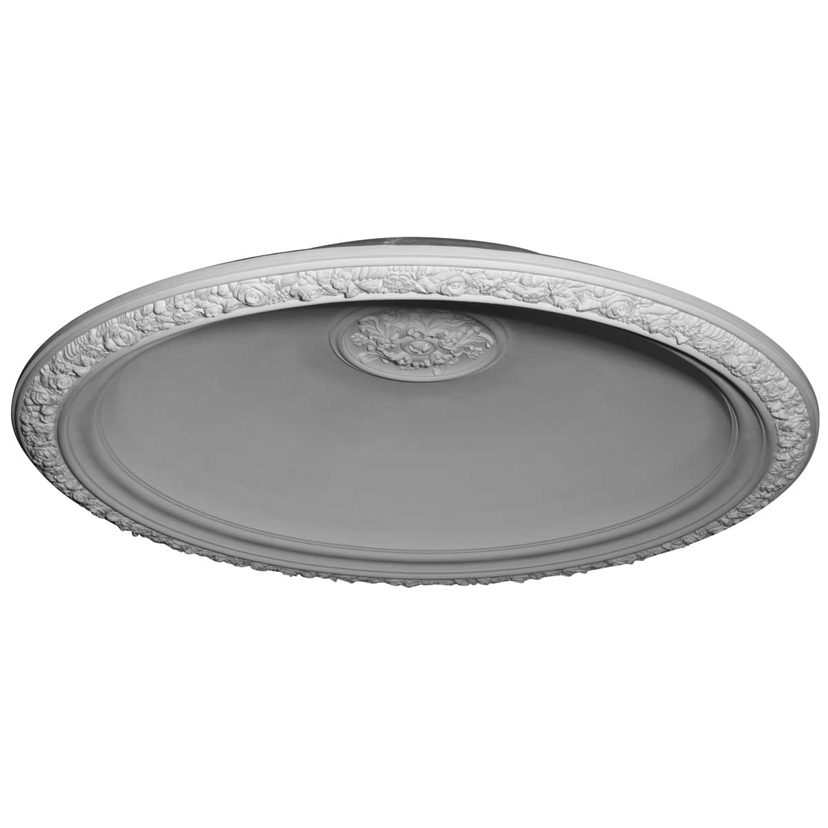 """DOME59FL 59""""OD x 47""""ID x 11""""D Floral Recessed Mount Ceiling Dome (53"""" Diameter x 12""""D Rough Opening)"""