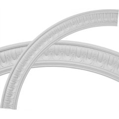 """CR55SQ 55""""OD x 46-3/4""""ID x 4-1/8""""W x 1-1/8""""P Sequential Ceiling Ring (1/4 of complete circle)"""