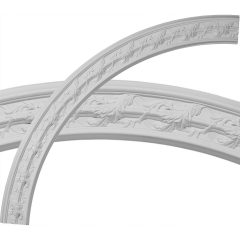 "CR67SO 66-3/4""OD x 58""ID x 4-3/8""W x 1""P Southampton Acanthus Leaf Ceiling Ring (1/4 of complete circle)"