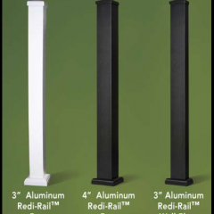 Afco Post-to-Post Style, Aluminum Newel Posts, Standard