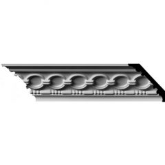 "MLD03X03X04FO 3-1/8""H x 3-1/8""P x 4-1/4""F x 96""L,(1-7/8"" Repeat) Foster Coin & Bead Crown Molding"